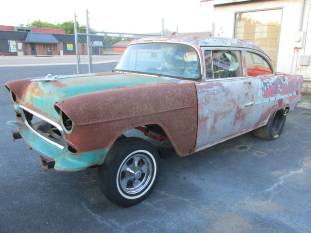 1955 chevrolet 210 gasser rat rod drag car project 2 door post hot rod street for sale photos. Black Bedroom Furniture Sets. Home Design Ideas