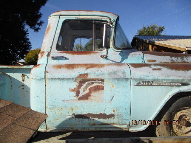 1955 Blue Chevrolet Other Pickups Pickup with Tan interior