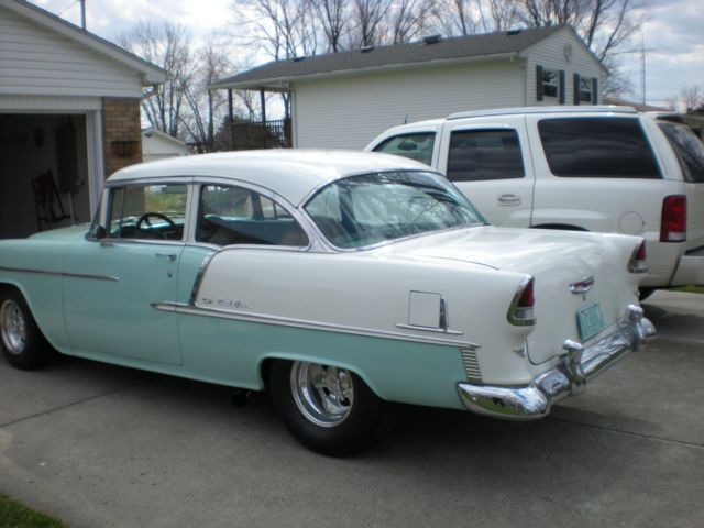 1955 chevrolet bel air 2 door post sedan for sale photos