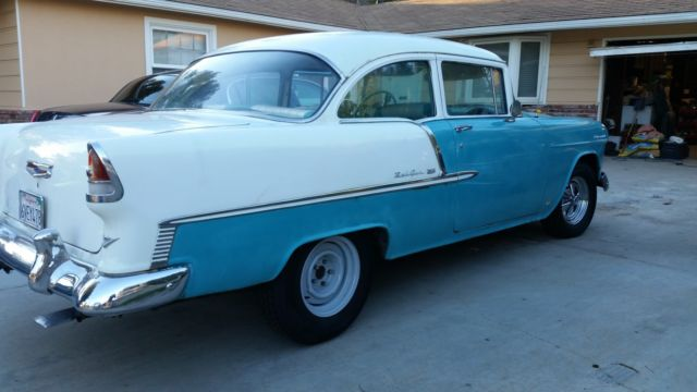 1955 Chevrolet Bel Air 2 Door Sedan 283th350 Disc Brakes For Sale