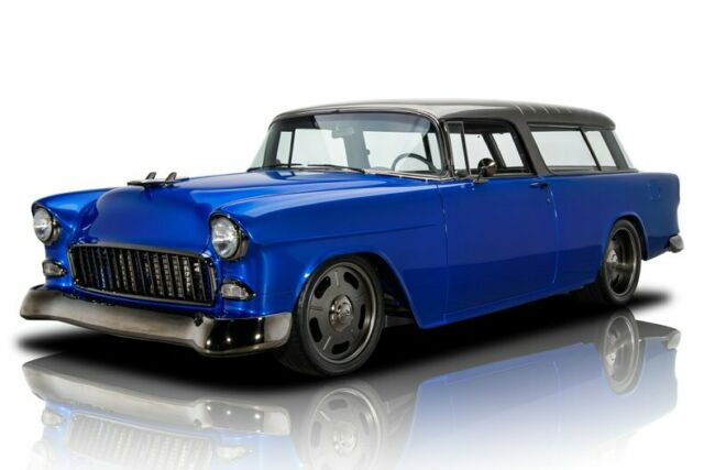 1955 Chevrolet Bel Air Nomad Tru Blue Pearl Station Wagon Supercharged LS3 V8 4
