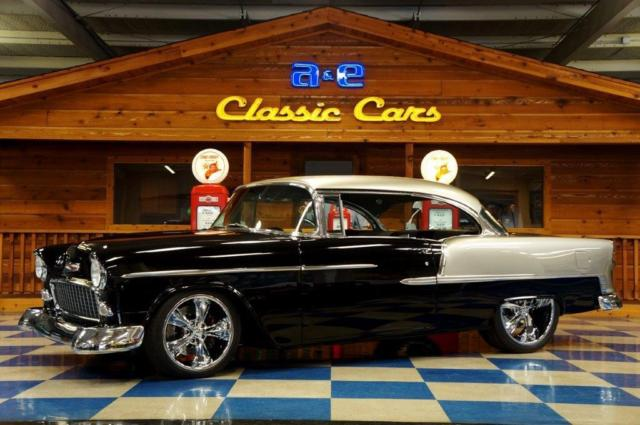 1955 Chevrolet Bel Air Pro Touring Black Silver For Sale Photos