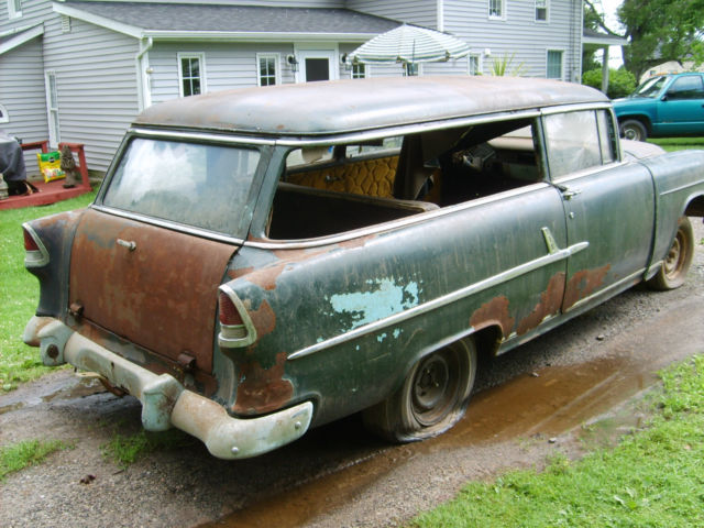 1955 chevrolet chevy two ten 2 door handyman station wagon unbelievable shape for sale photos. Black Bedroom Furniture Sets. Home Design Ideas