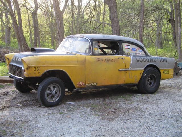 1955 Chevy 210 D Altered Locomotion Barn Find Survivor Gasser Vintage Drag Car