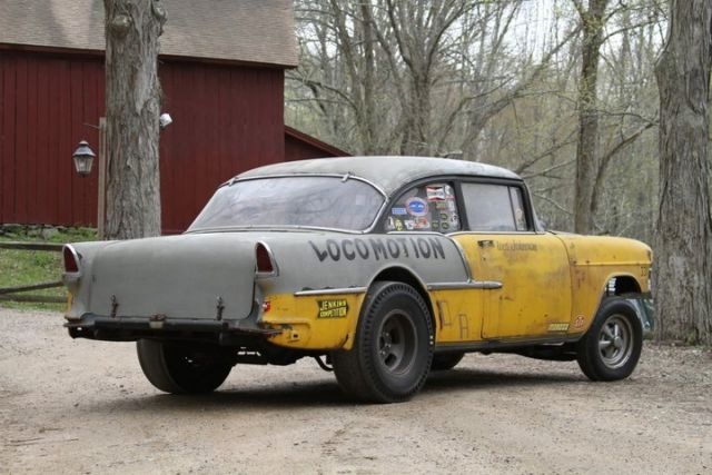 1955 Chevy 210 D Altered Locomotion Barn Find Survivor Gasser