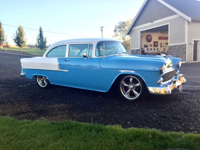 1955 Chevy 2dr Post New Crate Engine New Wheels And Tires