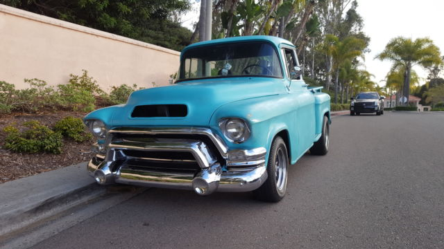 1955 chevy 3100 gmc 100 big window short bed pickup truck old school kool v8 for sale photos. Black Bedroom Furniture Sets. Home Design Ideas