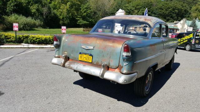 1955 Chevy Bel Air 2 Door Hardtop Gasser 43k Orig Mile
