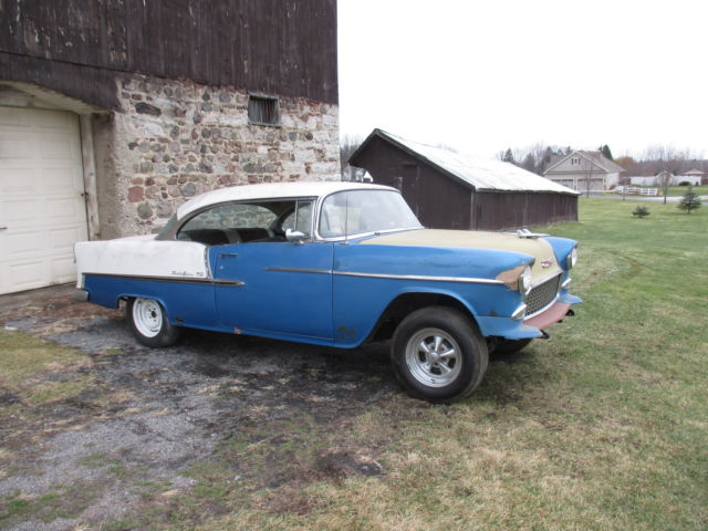 1955 CHEVY BELAIR 2 DOOR HARDTOP BARN FIND PROJECT