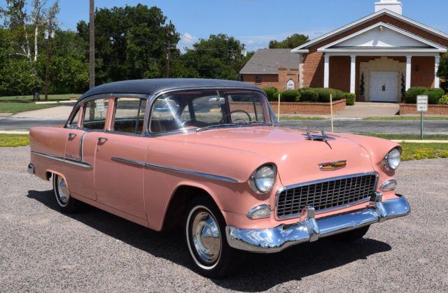 1955 chevy belair 4 door 6 cylinder 3 speed very solid for 1955 chevy belair 4 door value
