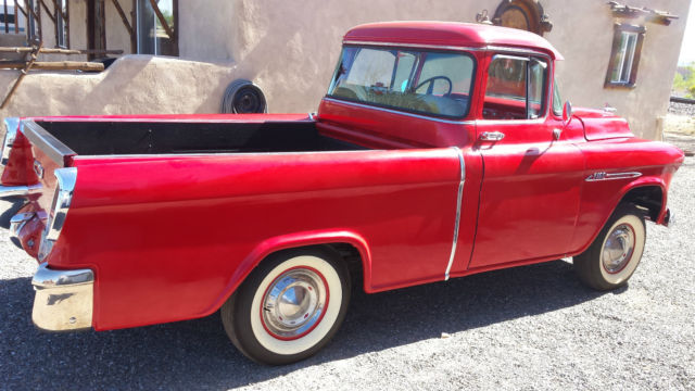 1955 Red Chevrolet Other Pickups Crew Cab Pickup with Red interior