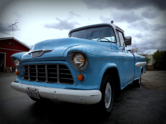 1955 Chevrolet Other Pickups 1955 Chevy fleetside not GMC ratrod patina ford