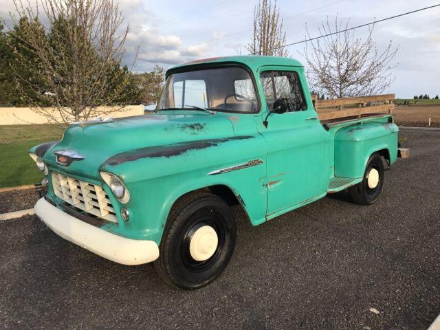 1955 Chevy Pickup Shop Truck Patina Apache 1956