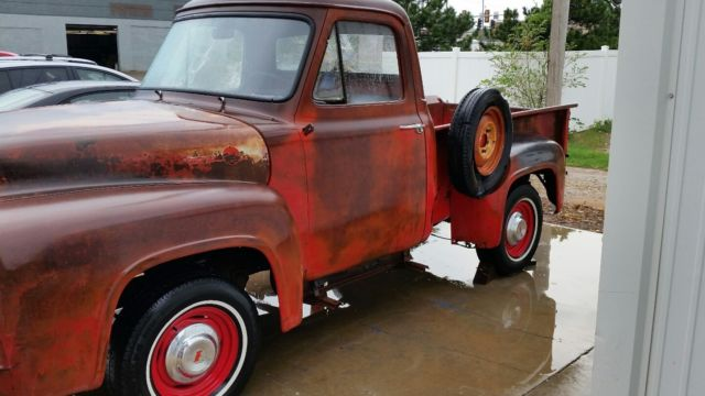 1955 f100 short bed solid V8 PATINA SHOP PICKUP