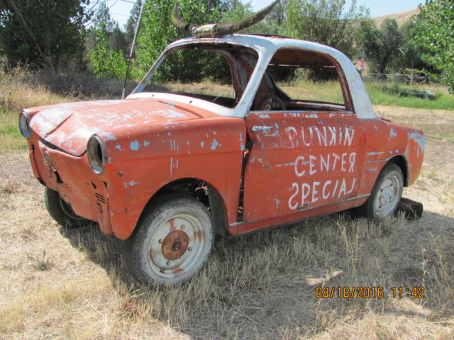 1955 Fiat  500 600 Bianchina Autobianchi Micro Car Rodeo Clown Car NO RESERVE!