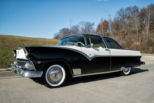 1955 ford crown victoria factory a c fender skirts continental kit y  1955 ford crown victoria factory a c fender skirts continental kit y block