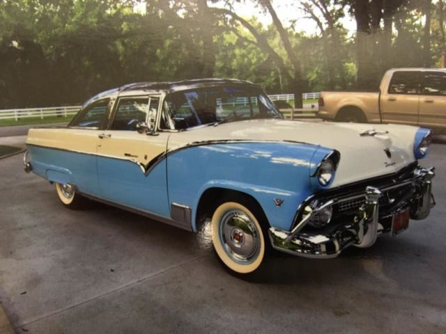 1955 Blue Ford Crown Victoria with Blue interior