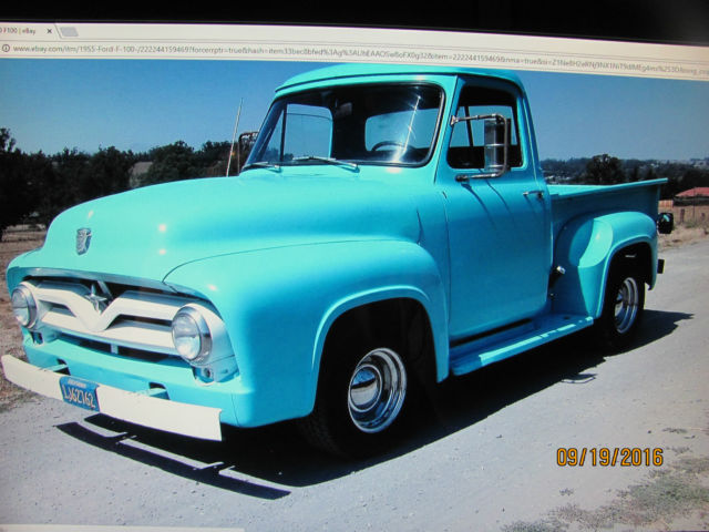 1955 Ford F100 Hot Rod Antique Ford Truck Rat Rod For Sale