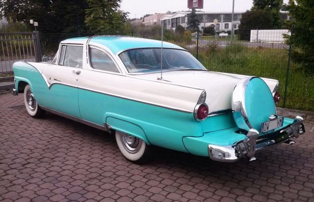 1955 Green Ford Crown Victoria Coupe