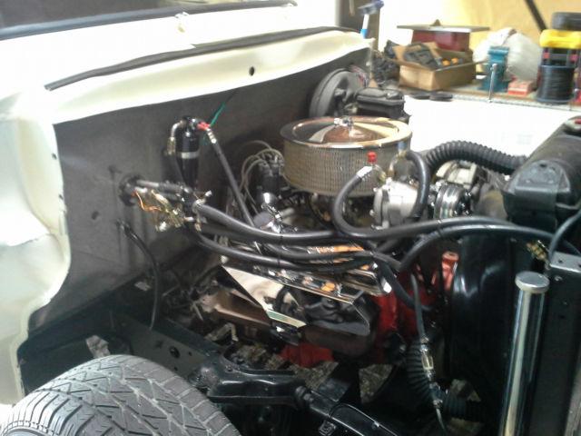 1955 FORD PICK UP ,PEARL WHITE,V8 A/C,TILT FRONT END,JUST