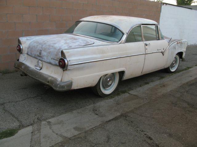 1955 FORD VICTORIA 2 DOOR HARDTOP CALIFORNIA CAR ALL ORIGINAL GARAGE BARN FIND