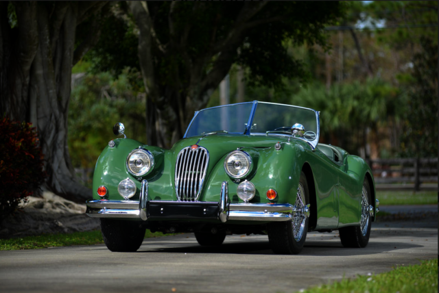 1955 Jaguar XK manual