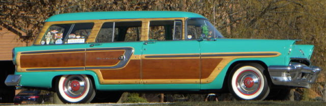 1955 Green Mercury Monterey Woody Estate Wagon -- -- with Green interior