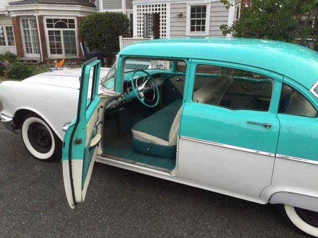 1955 pontiac chieftain 4 door turquoise white car auto for 1955 pontiac chieftain 4 door