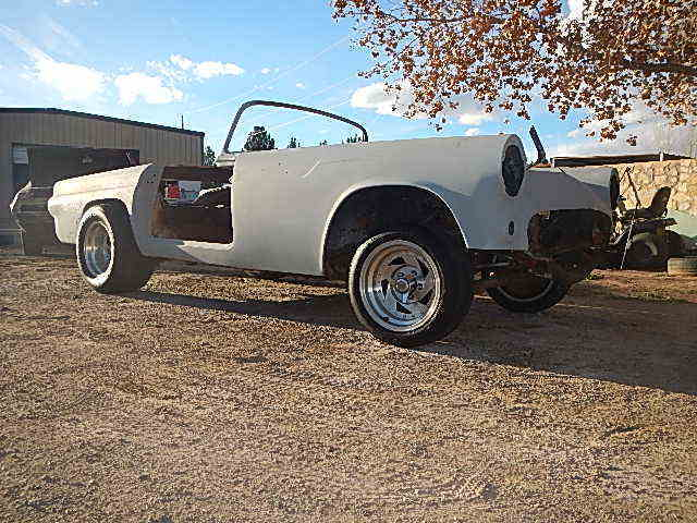 1955 TBIRD HOT ROD PROJECT CAR RAT GASSER SCTA T BIRD BARN FIND 1957