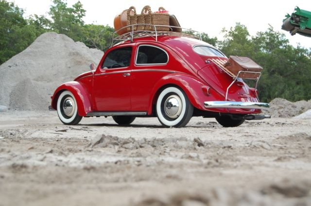 1955 Red Volkswagen Beetle - Classic Coupe with Tan interior