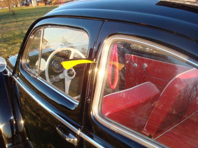 1955 Vw Volkswagen Ragtop Beetle Oval Bug With Semaphores