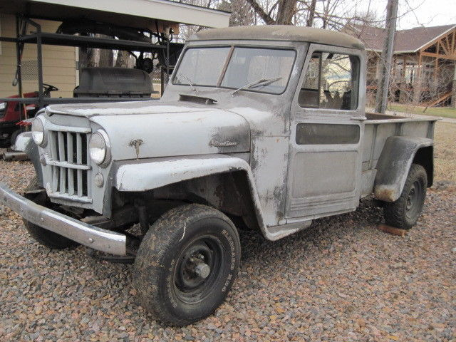 1955 willy 39 s jeep pick up 4x4 truck chevy v 8 barn find for sale photos technical. Black Bedroom Furniture Sets. Home Design Ideas