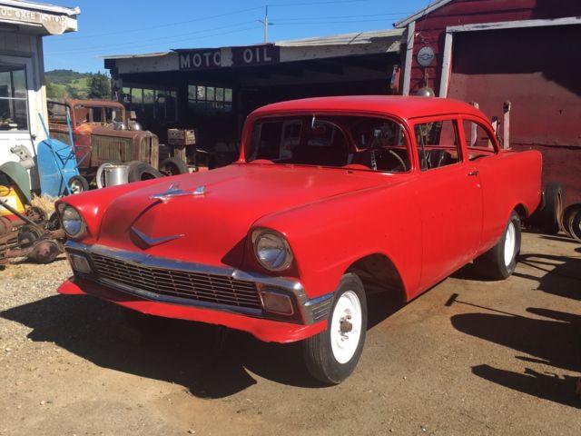1956 chevrolet 150 2 door sedan project gasser 56 chevy tri 5 not 1955 1957 for sale photos. Black Bedroom Furniture Sets. Home Design Ideas