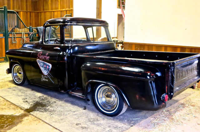 1956 chevrolet 3100 big window short bed truck hot rod rat for 1957 chevy big window truck for sale