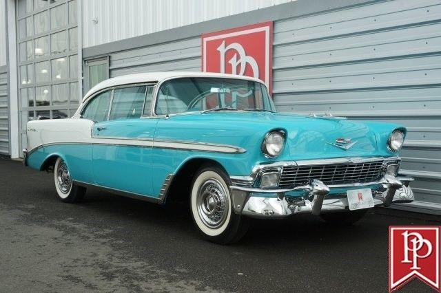 Remarkable 1956 Chevrolet Bel Air Hardtop 8079 Miles Tropical Turquoise Beutiful Home Inspiration Semekurdistantinfo