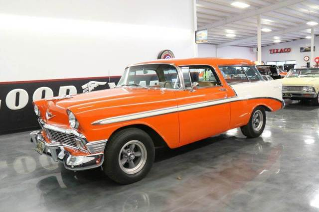 1956 Red Chevrolet Bel Air/150/210 Nomad 350 700R AC PS PB Wagon with Tan interior