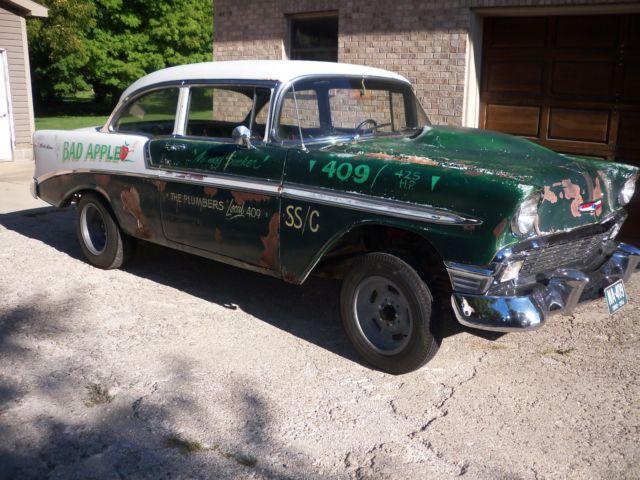 1956 Chevrolet Belair 2 Door Post Era Correct 409 425 Hp Drag Race