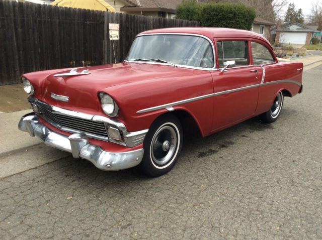 1956 Chevy 210 Post 6 Cylinder Chevy 235 Ci Motor Power Glide Transmission For Sale Photos