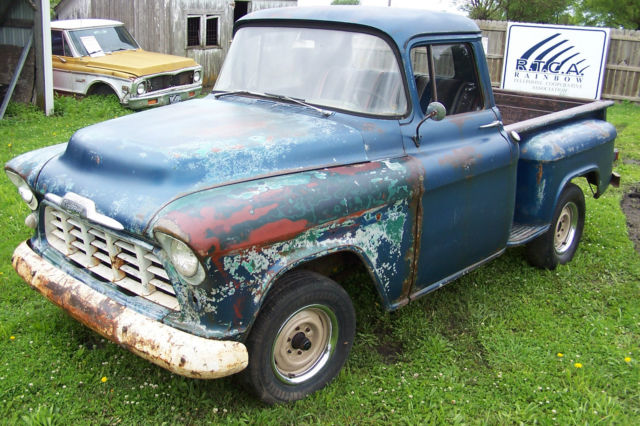 1956 chevy 3100 sb truck 1 2 ton solid project cool patina rat rod 1950 gasser for sale. Black Bedroom Furniture Sets. Home Design Ideas