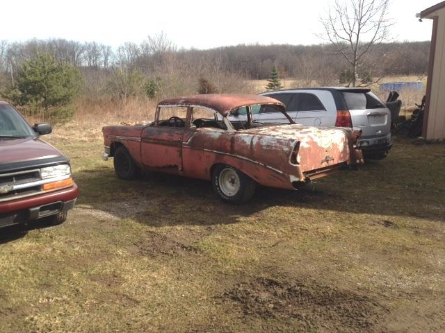 1956 Chevy Bel Air Post Project Car For Sale Photos