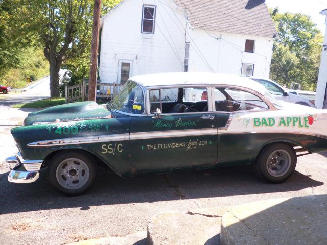 1956 Chevy Belair 2 Door Post Drag Race Car Period Correct 409 425hp