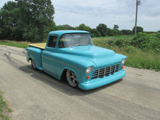 1956 CHEVY PICKUP TRUCK FULL CUSTOM LEATHER SEE VIDEO 57 55 54 53 52 ...