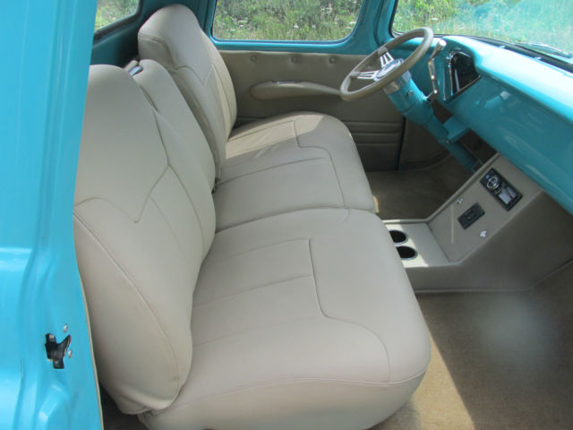 1956 chevy pickup truck full custom leather see video 57 55 54 53 52 51 50 49 for sale photos. Black Bedroom Furniture Sets. Home Design Ideas