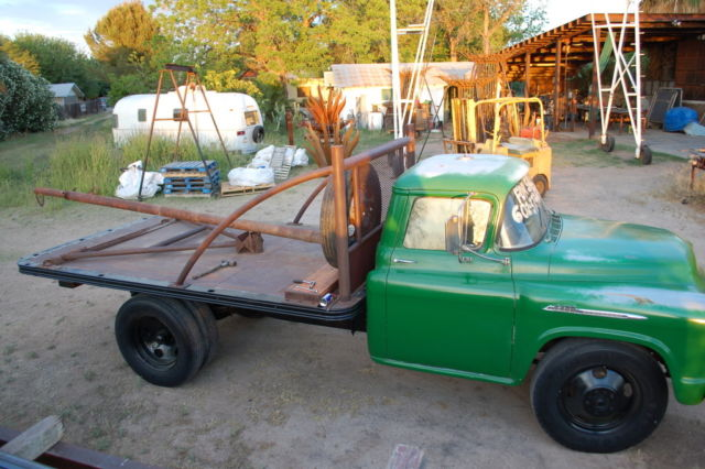 1956 classic chevy 1 1 2 ton dually stake and platform for Classic beds for sale