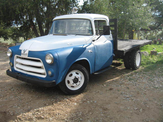 1956 Dodge C3 1 Ton Flatbed Stakebed Pickup Truck Nice For Sale Photos Technical Specifications Description