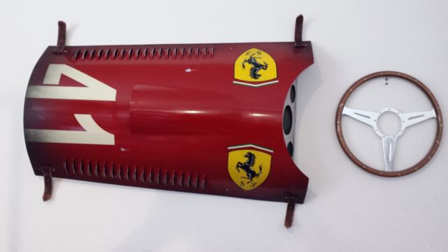 1956 Ferrari F1 Grand Prix Race Car Inspired Hood Panel Wall Art by ...