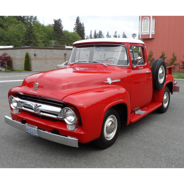 1956 ford f 100 hottest truck big back window built in for 1956 f100 big window for sale