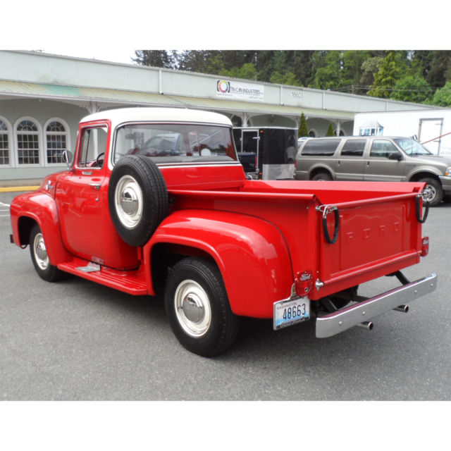 1956 ford f 100 hottest truck big back window built in for 1956 big window ford truck sale