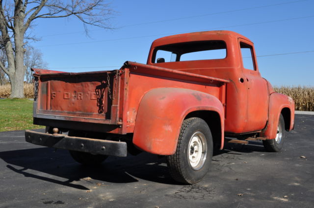 1956 Ford F 100 Short Bed Pickup 1 2 Ton Project Truck For Sale Photos Technical