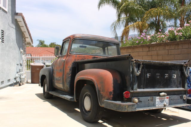 1956 ford f100 big window pick up all original never